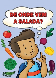 Capa do Livro: De Onde Vem a Salada?